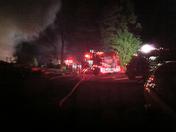 Scenes of the Arson Fire in Jamaica, VT  6/5/14