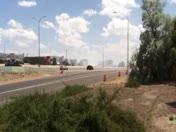Fire at I-25 and Paseo at 2:30 on 6-7-14