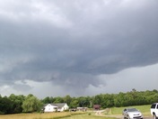 Storm as it was coming in over Hays, NC this evening about 4:30 pm