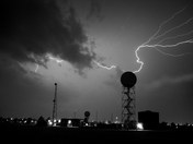 Infrared Lightning Photograph, North Base, Norman, Oklahoma