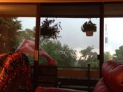 storms in white oak heavy rain and lightning