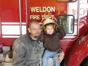my daughter and myself and the fire station