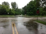 Flooded streets in Hartland on Tues June 18