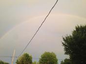 nice rainbow arch before some rain.