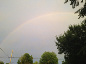 another rainbow arch before rain/storms