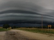 Thunderstorm rolling into Meadville, Mo