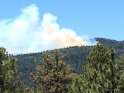 fire by San Pedro wilderness