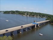 Aerial shot of Stoney Creek Bridge