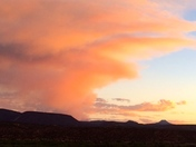 Diego Fire as seen from Abiquiu today at Sunset
