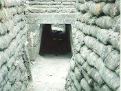 The Trench of Death at Diksmuide Belgium