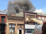 Fire on Main Street of Audubon