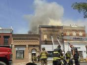 Fire in downtown Audubon