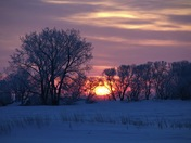 Beautiful Sunrise on the Prairies, Manitoba