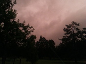 Crazy storm clouds