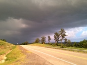 Looking east to Waldron on OK State Hwy 128