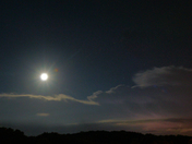 Super Moon Thunder Storm