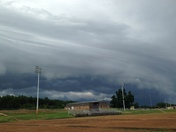 storm over Bearcat Stadium