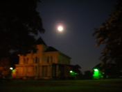 Last Full Moon over Augusta Street's Wilkins House
