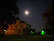 Last Full Moon over Augusta Street's Wilkins House