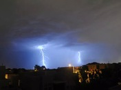 Lightning storm on the west side