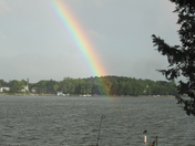 Rainbow over Browns Lake