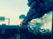 I-95 Bus Fire. Barb Blackburn photo