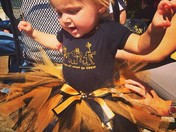 Little Girl in Saints Outfit