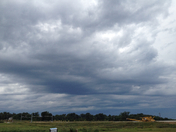 Clouds over Prairie Grove after storms