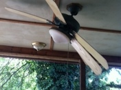 Front porch fan (it's stuck in this position!)