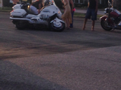 biker went down on resurface road on 412 and 112 in Tontitown