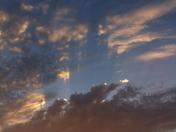 streaks in sunset