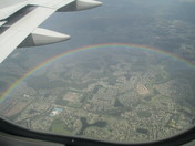 Circle Rainbow Seen From Airplane over Central Florida