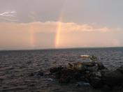 lighting over Sebago Lake