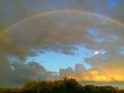 rainbow over Cassidy Field