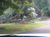 Downed trees blows out power for the whole neighborhood