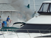 Boat Fire at Point Bay Marina