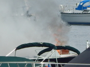 Boat Fire at Point Bay Marina
