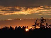 sun set in the white mountains