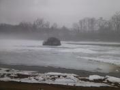 ice jam at comnellsville river park 12 45