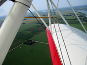 Red & White View from Bi-Plane Ride