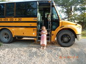 Off to school on the bus.
