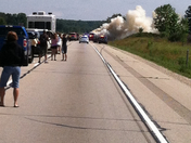 US 41 SB shutdown due to car fire, just north of Allenton