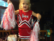 Emma cheerleading