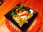 2014 KOAT Chili Challenge-Butternut Squash Green Chili Corn Enchiladas with Gree