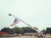 9/11 anniversary display in Boone
