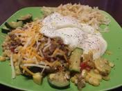 911 Firehouse Calabacita Green Chile Breakfast Enchiladas