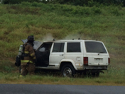 vehicle fire on 222