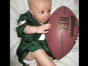 Ezra ready for the Packers to win!