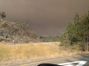 smoke over Donner Summit from Pollock Pines fire