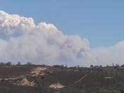 King fire looking toward northeast